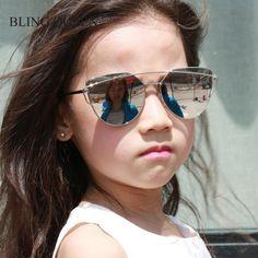 6f829111b44 Fashion Sunglasses Boys Girls Kids oculos de sol Cool children glasses metal