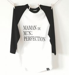 Mini Perfection Mom Baseball Tee from Bonjour Trésor Baseball, Tees, Mini, Fashion, Bonjour, Baseball Promposals, Moda, T Shirts, La Mode