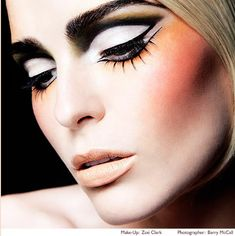 Makeup by Zoe Clark. 60s inspired makeup. Makeup to make eyes appear larger. Makeup to try for fun