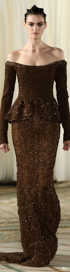 Fall 2019 Haute Couture Tony Ward Tony Ward, Haute Couture Gowns, Strapless Dress Formal, Formal Dresses, Fashion Show, Fashion Design, Fashion 2020, Glamour, Brown Fashion