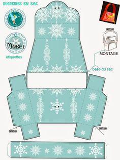 Bolso con Copos de Nieve para Imprimir Gratis. - Ideas y material gratis para fiestas y celebraciones Oh My Fiesta!