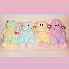 da512f82acb Hard To Find ----  BABY TY PLUFFIES LOT - Monkey Dog Bunny   Frog 1st Gen   Ty