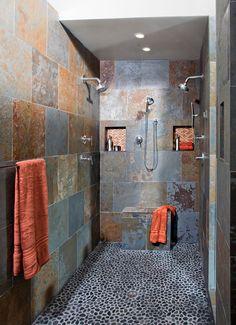 Pebble floor - HomeTech Renovations, Inc.