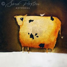 Another trademark Cow painting by Sara Paxton Artworks. Just cant help myself.    www.sarapaxtonartworks.com