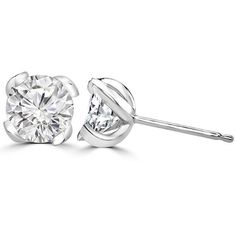 1/2 ct Round Cut Sim Diamond Solitaire Stud Earrings Sterling Silver #OmegaJewellery #Stud