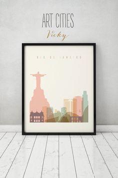 Imprimer de Rio De Janeiro affiche sticker Rio par ArtPrintsVicky