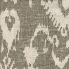 Bristow Smoke Ikat Drapery Fabric modern fabric