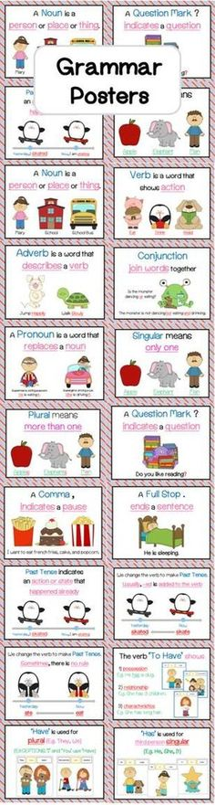 Grammar Posters, Grammar And Punctuation, Grammar Rules, Grammar Lessons, Teaching Grammar, Teaching Kids, Teaching English, Teaching Writing, Grammar Wall