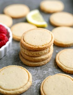 These Paleo Vegan Shortbread Lemonades are a copycat version of the popular Girl Scout cookie. Made with just 6 ingredients and so delicious! Gluten free, dairy free, egg free, and naturally sweetened. I shared my Vegan Shortbread, Lemon Shortbread Cookies, Pear And Almond Cake, Almond Cakes, Pear Recipes, Real Food Recipes, Paleo Recipes, Sweet Recipes, Lemonade Girl Scout Cookies