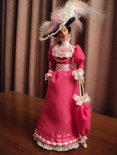 OOAK Barbie doll in an Edwardian fashion costume by Angelicdolls, $100.00