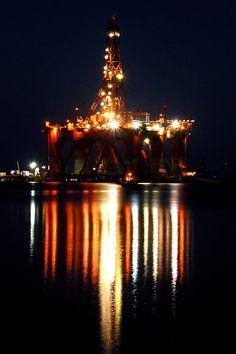 Portland Oil Rig by Rebecca McLean