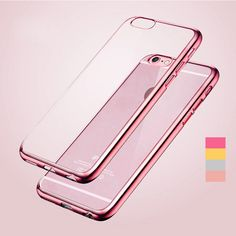 Gradient Case Luxury Ultra Thin Clear Crystal Rubber Platin Electroplating Tpu Soft Mobile Phone Case For Iphone 5 5s 6 6s Plus