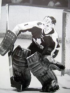 Jacques Plante ~ Toronto ( informational link under construction. Ice Hockey Teams, Hockey Goalie, Hockey Players, Hockey Stuff, Nhl, Maple Leafs Hockey, Air Canada Centre, Goalie Mask, Nfl Fans