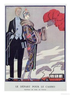 Leaving For the Casino. Illustration For La Gazette du Bon Ton, 1923 Giclee Print by Georges Barbier at AllPosters.com