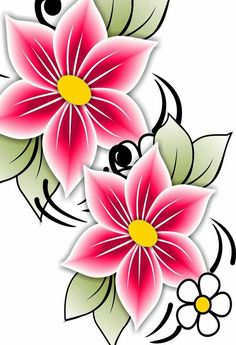 Flower Pattern Drawing, Floral Drawing, Colorful Drawings, Art Drawings, Rose Stencil, Pottery Painting Designs, Painted Flower Pots, Flower Phone Wallpaper, Doodle Designs