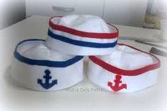 847002d1d586d Resultado de imagem para chapeu de marinheiro como fazer em feltro Fantasia  De Marinheiro Infantil