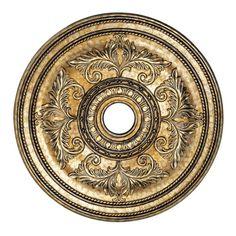 Vintage Gold Leaf  Ceiling Medallion