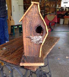reclaimed wood birdhouse