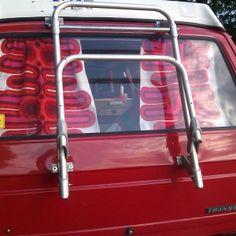 Selbstgemacht: Bulli-Gardinen - unterwegs mit dröppel Vw Bus, Strand Camping, Old Cars, Sheer Curtains, Homemade, Vacation