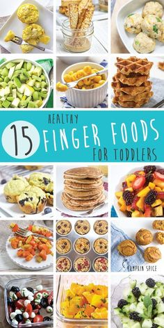 These 15 Healthy Finger Foods for Toddlers will make feeding your active toddler a snap! Delicious and easy to make, these recipes will help you feed your toddler nutritious meals and snacks all day long.