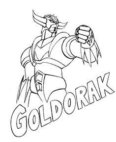 Coloriages à imprimer - Goldorak (Super-héros)