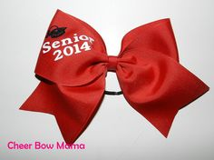 Senior 2014 Cheer Bow by CheerBowMama on Etsy