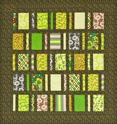 City Lights Quilt | AllPeopleQuilt.com good for charity quilts - easy to adjust size by adding or subtracting rows