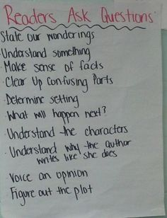 Middle School Reader's Workshop - Readers Ask Questions