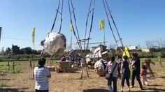 Strike Back of the Scarecrow- Villagers make wrecking balls and strike back against Taoyuan Aerotropolis