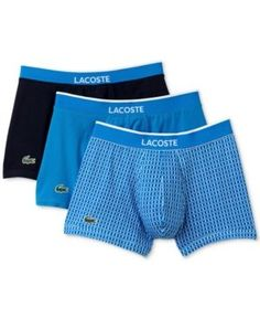 LACOSTE LACOSTE MEN'S 3-PACK. LINK-PRINT TRUNKS. #lacoste #cloth #