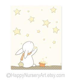 Children's Wall Art  Nursery Decor  Bunny by HappyNurseryArt, $15.00
