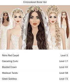 Covet Fashion, Veil, Red Carpet, Curls, Braids, Hair Accessories, Bang Braids, Cornrows, Veils