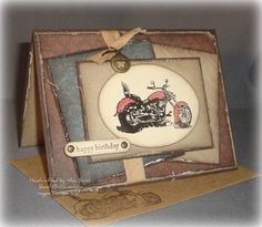 Mojo Motorcycle by scrapaholicbond26 - Cards and Paper Crafts at Splitcoaststampers. I've used this one for inspiration to create a card.