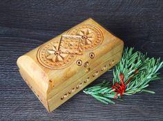 Carving Wood box cheap storage boxes cigar box by BarSoapUA