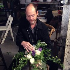 """""""Look @colonialhouseofflowers! We're having a blast with Barry. Thanks for sending him our way for #cdnyc2015! #chapeldesignerworkshops"""""""