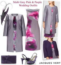 515e4e538cb Jacques Vert purple grey pink Mother of the Bride occasion dress suits  matching wedding coats and