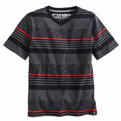 Tony Hawk Textured-Striped V-Neck Tee - Boys 8-20.   $18 ticket.  $11.99 everday sale price