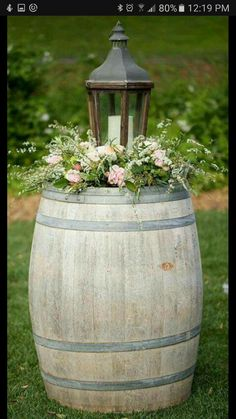 """Say """"I Do"""" to These 25 Stunning Rustic Wedding Ideas Rustic wine barrel and vintage wood lantern wedding decor Chic Wedding, Trendy Wedding, Wedding Rustic, Wedding Vintage, Wedding Country, Wedding Church, Wedding Ceremony, Wedding Favors, Ceremony Arch"""