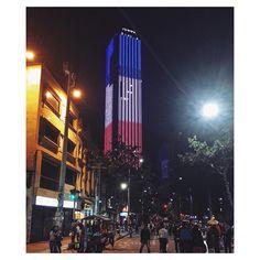 """Bogotá right now. Torre Colpatria. #travellingtania #travellingwithtania #france #colombia #bogota #torrecolpatria #paris #stopwar #peace #travelstoke"""