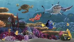 Finding Nemo Prepasted Mural 6' x 10.5' - Ultra-strippable