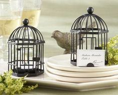 """""""Love Songs"""" Birdcage Tealight/Place Card Holder"""
