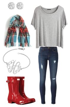 """""""Untitled #40"""" by jordan-clough on Polyvore featuring Chicnova Fashion, Hudson, Hunter, J.Crew and Initial Reaction"""