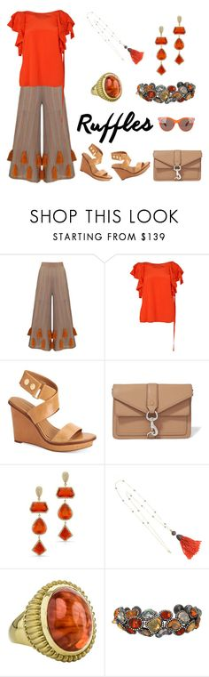 """Add Some Flair: Ruffled Tops"" by karen-galves on Polyvore featuring Mochi, Dorothee Schumacher, Calvin Klein, Rebecca Minkoff, Anne Sisteron, Cynthia Bach, Arunashi, Marc Jacobs and ruffledtops"