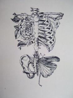 Skelett Blumen