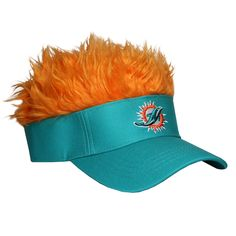 cef97b3089b Miami Dolphins Flair Hair Visor  FlairHair  NFL  Sports