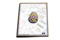 Easter Card Easter Egg Embossed by RoyalRegards on Etsy, $3.25