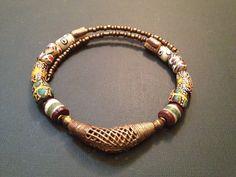 Afrocentric Jewelry - Krobo and Ashanti Brass Choker on Etsy, $25.00