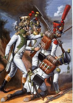 "Spanish ""Joseph Napoleon regiment"". Grenadiers and voltigeurs."