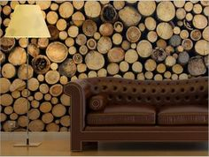 Log Cabin Wallpaper Mural logs wood wooden effect chopped tree trunk trunks UK online scandi interior interiors contemporary style Rustic Walls, Rustic Wood, Rustic Decor, Into The Woods, Unique Wallpaper, Wood Wallpaper, Stunning Wallpapers, Bathroom Wallpaper, Wallpaper Ideas