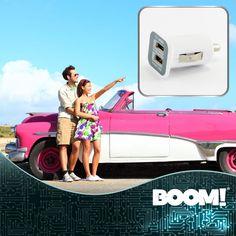 ¡Siempre contigo mientras viajas! #Cargador para coche #DobleEntrada USB